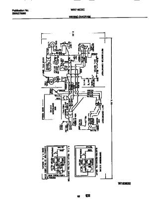WHITEWESTINGHOUSE Refrigerator Wiring diagram Parts
