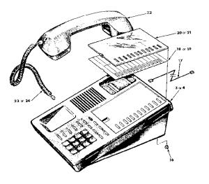 TRILLIUM TRILLIUM TELEPHONE Parts   Model PANTHER612