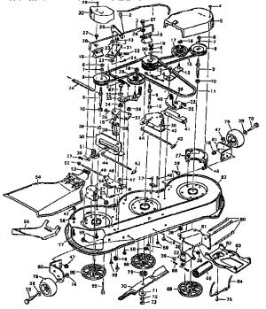 Murray model 403334A mower deck genuine parts