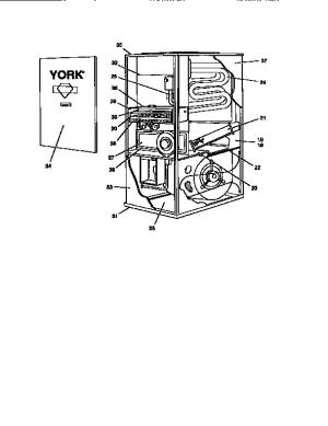 York model P3URD20N09501 furnacesheaters genuine parts
