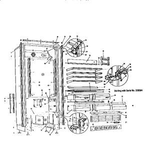 SubZero model 201R kitchenrefrigerator pact genuine parts