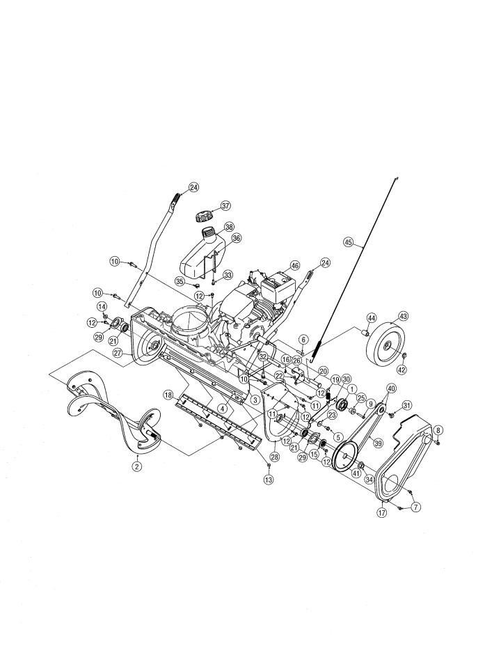 Model 24711683   CRAFTSMAN SNOW THROWER Parts