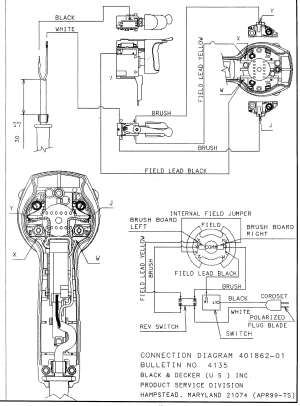 Dewalt model DW511 TYPE 1 drill hammer genuine parts