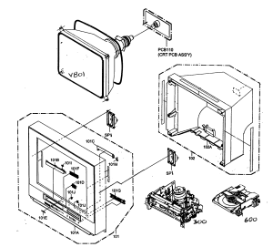 RCA TVVCRDVD COMBO Parts | Model 24F500TDV | Sears PartsDirect