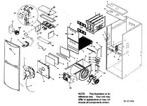 Icp model H9MPD075F12B1 furnaceheater, gas genuine parts
