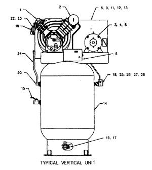 IngersollRand model 2475N75P air pressor genuine parts