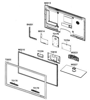 Samsung model UN40C5000QFXZA lcd television genuine parts