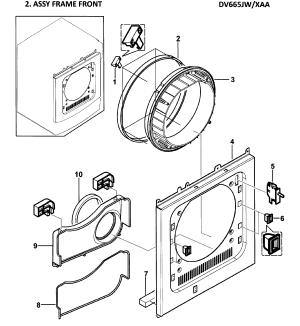 SAMSUNG DRYER Parts | Model DV665JWXAA0000 | Sears PartsDirect