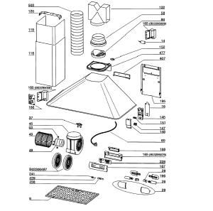 Broan model RM503004 range hood genuine parts