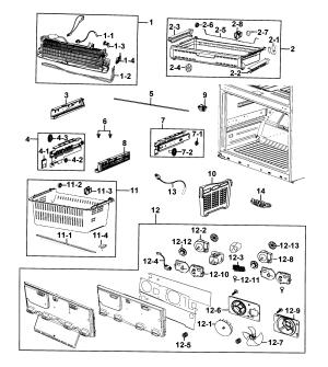 SAMSUNG REFRIGERATOR Parts   Model rf4287harsxaa0001