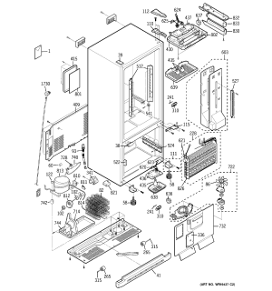 GE BOTTOM MOUNT REFRIGERATOR Parts | Model PDS20SCPARSS