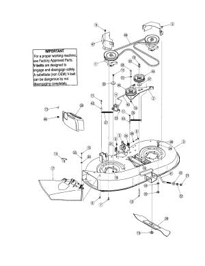 Troybilt model 13AN77TG766 lawn, tractor genuine parts