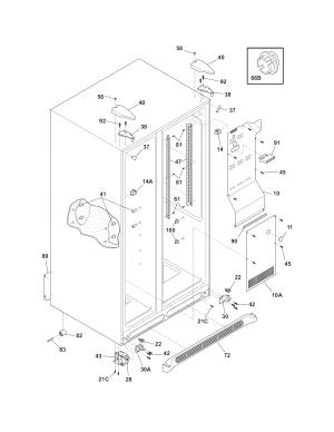 Frigidaire model FFHS2611LWF sidebyside refrigerator