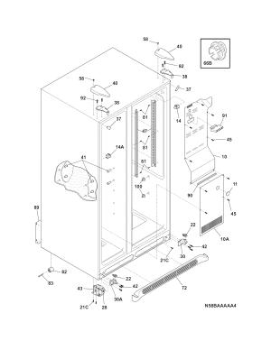Crosley model CRSS262QW0 sidebyside refrigerator genuine