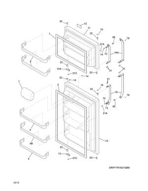 Frigidaire model FFTR1821QW3 topmount refrigerator