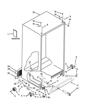 WHIRLPOOL REFRIGERATOR Parts | Model wrs322fdam03 | Sears