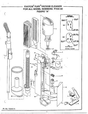 Iona model FY51 vacuum, upright genuine parts