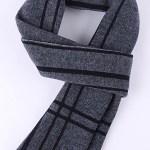 Kettymore Men Decent Striped Thick Warm Woolen Muffler