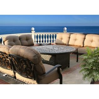 Agio International Moore Haven 4 Piece Woven Sofa Seating ... on Outdoor Living Ltd id=68508