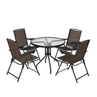 goplus op3685op3687 5pc bistro outdoor