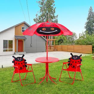 gymax gys01897 kids patio set table and