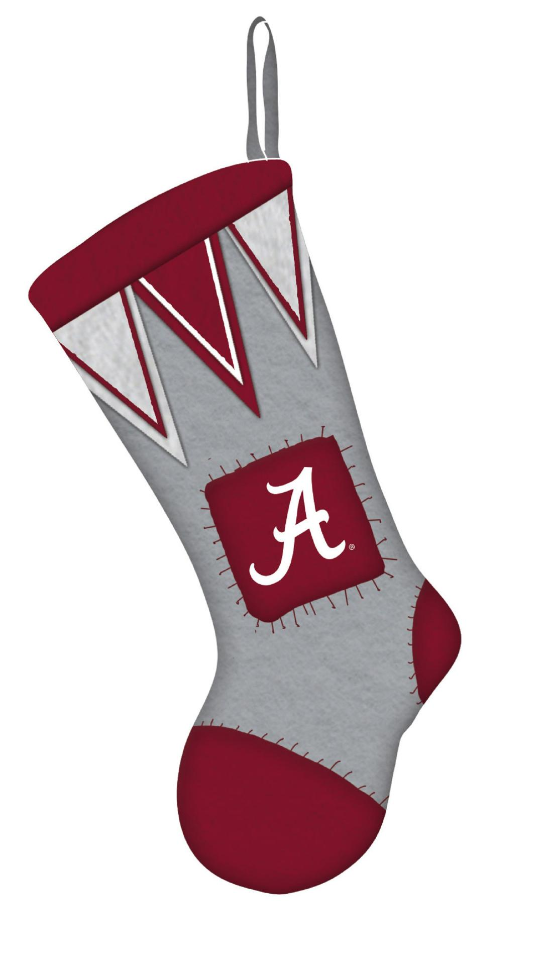 NCAA Microfleece Team Christmas Stocking Alabama Crimson
