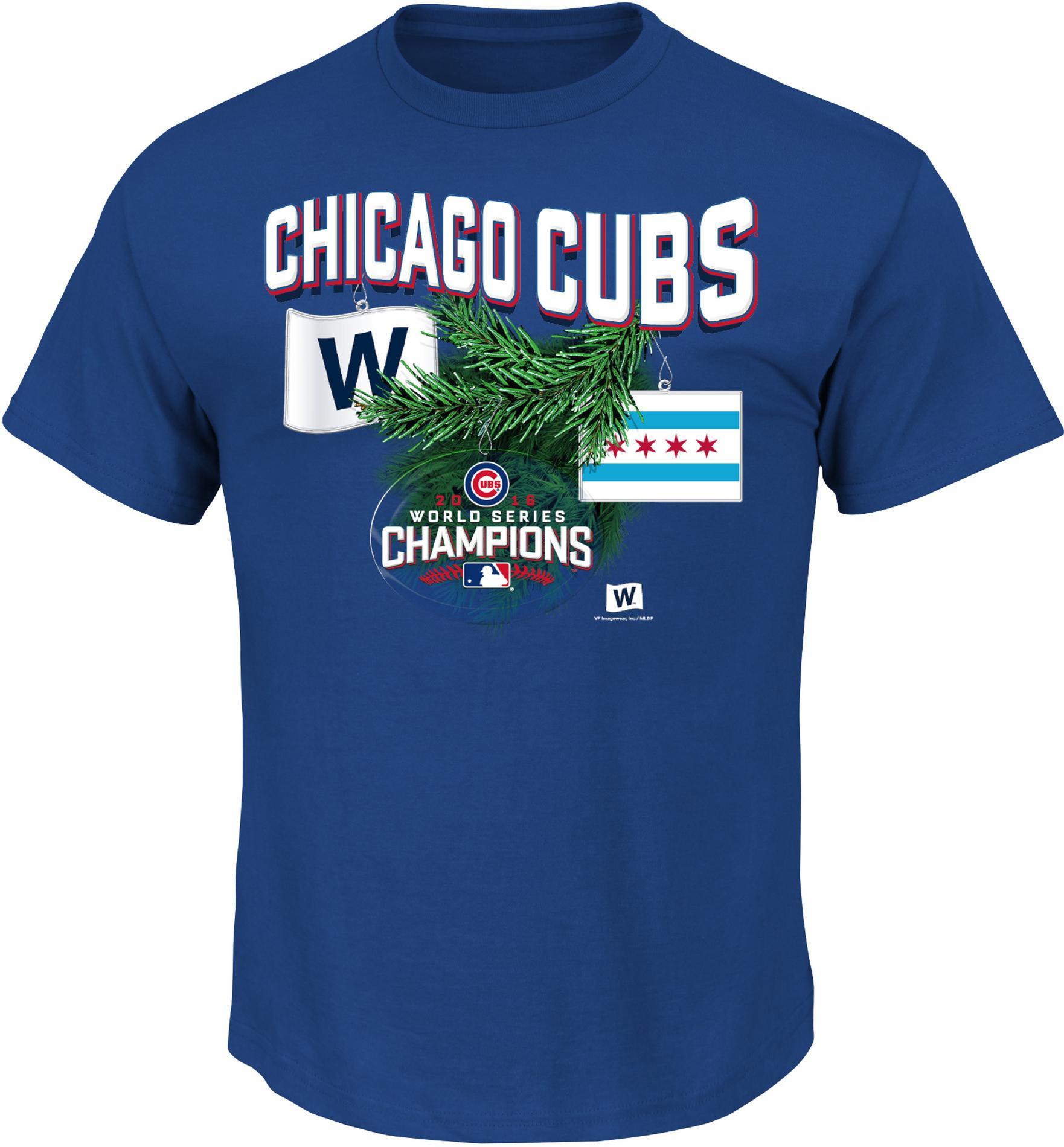 MLB Mens Christmas Graphic T Shirt Chicago Cubs