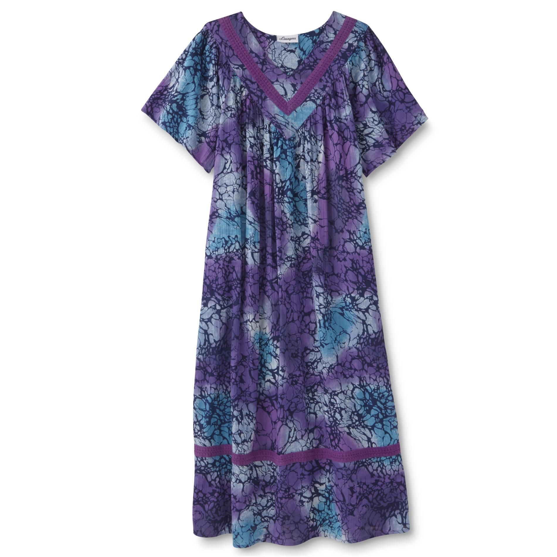 Loungees Womens Lounge Dress Floral