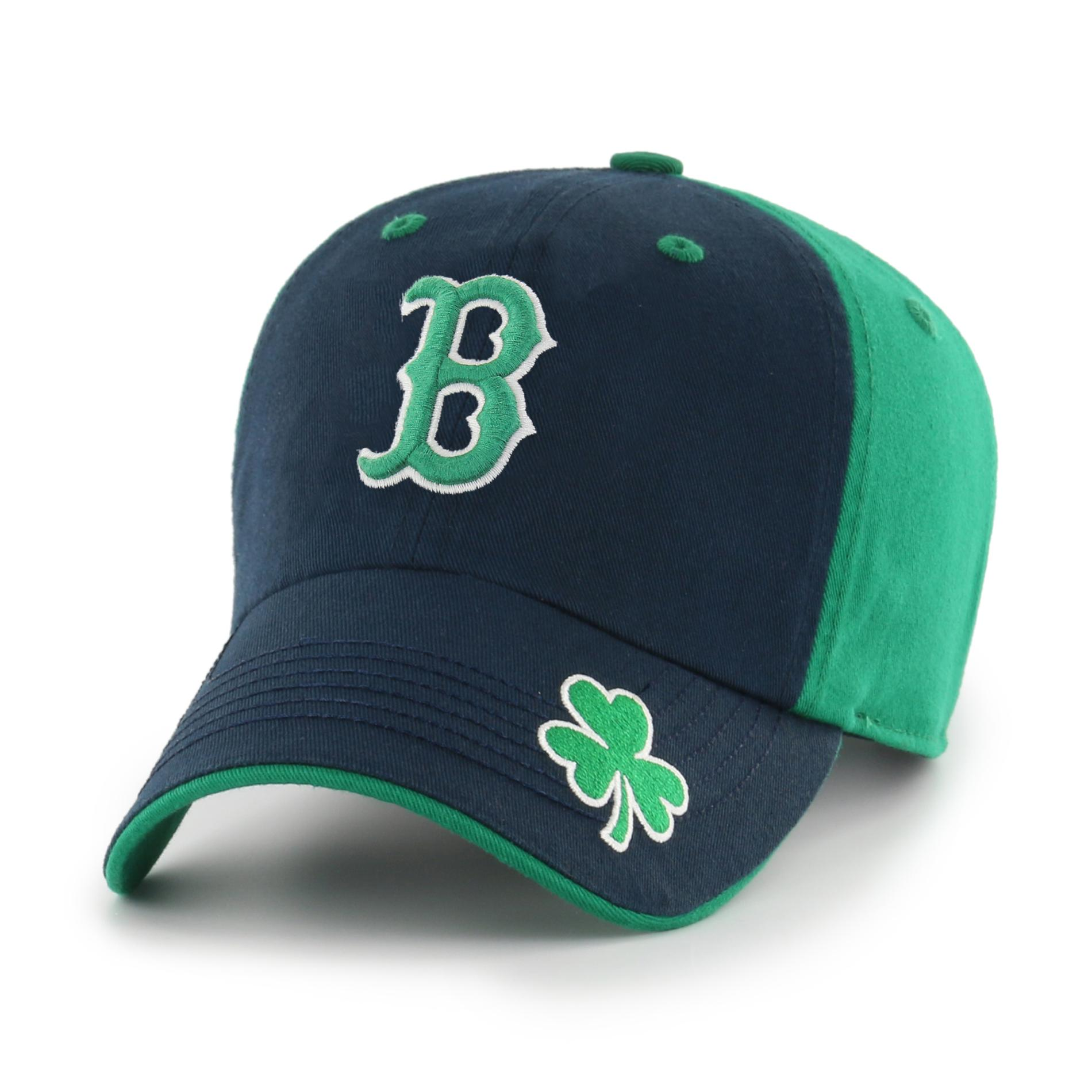 MLB Mens St Patricks Day Baseball Hat Boston Red Sox