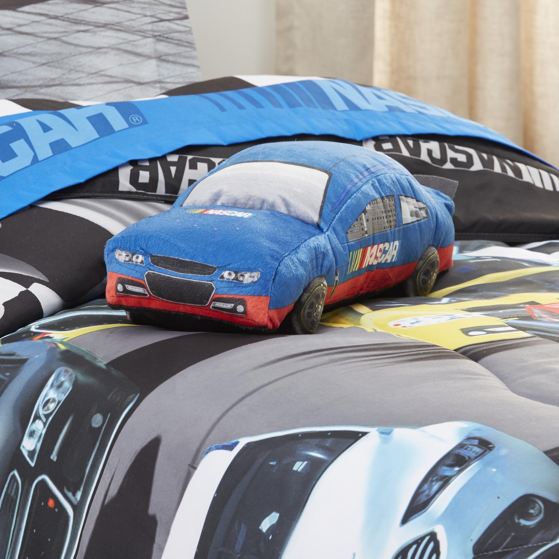 NASCAR Kids Plush Race Car Cuddle Pillow Home Bed Amp Bath Bedding Decorative Pillows Amp Shams