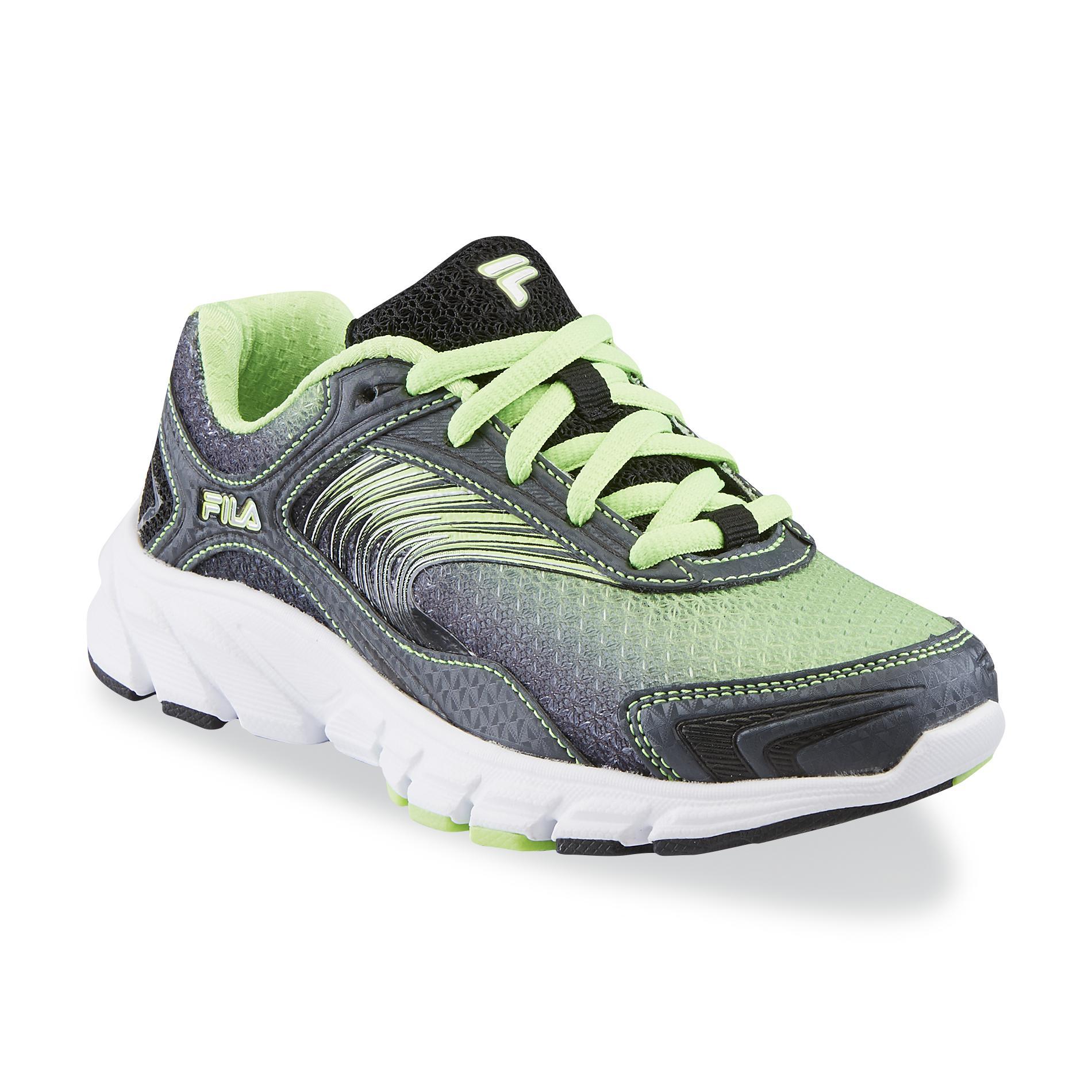 Fila Boys Maranello Neon GreenBlackGray Running Shoe