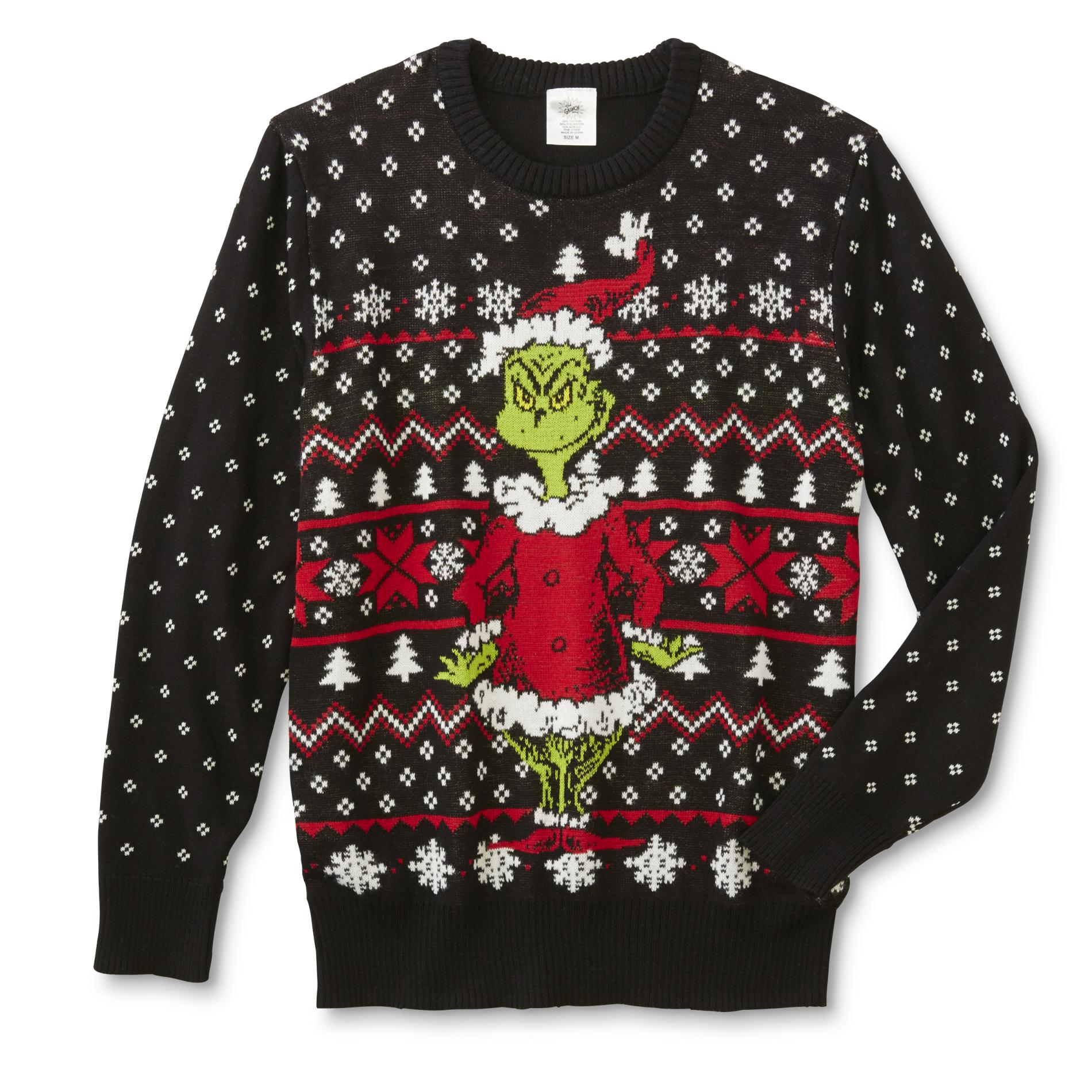 Grinch Young Mens Ugly Christmas Sweater