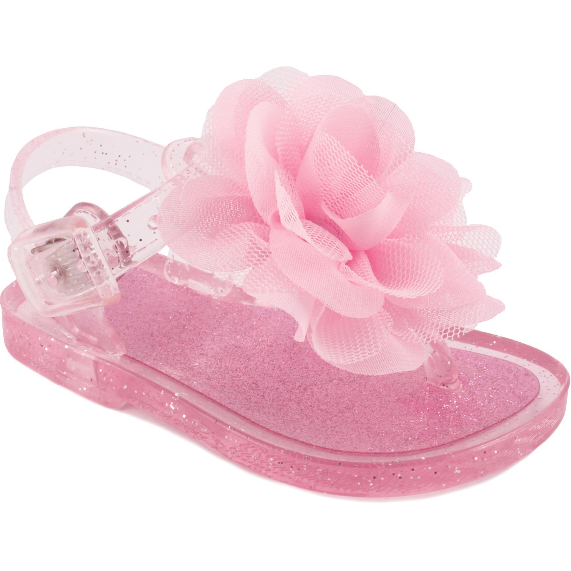Little Wonders Baby Girls PinkGlitter Jelly Sandal