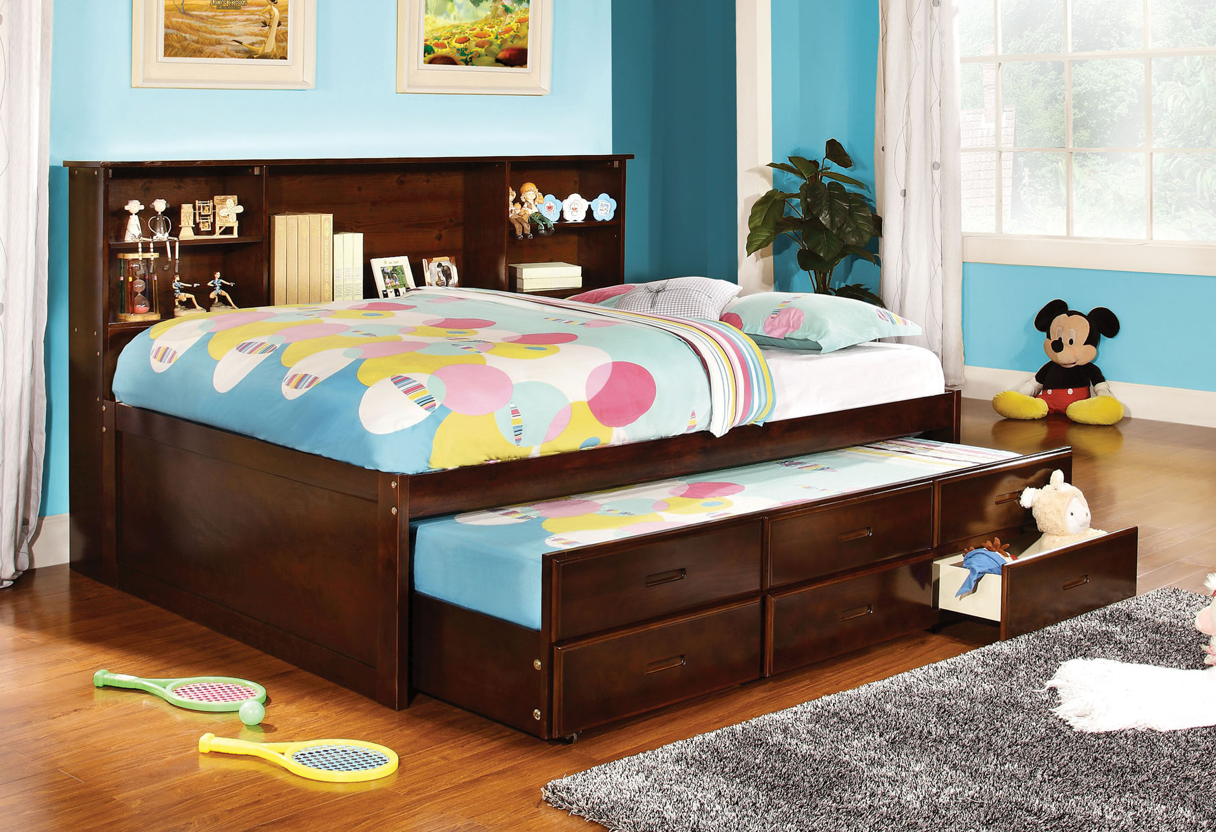Furniture Of America Cherry Koop Captain Bed With Trundle