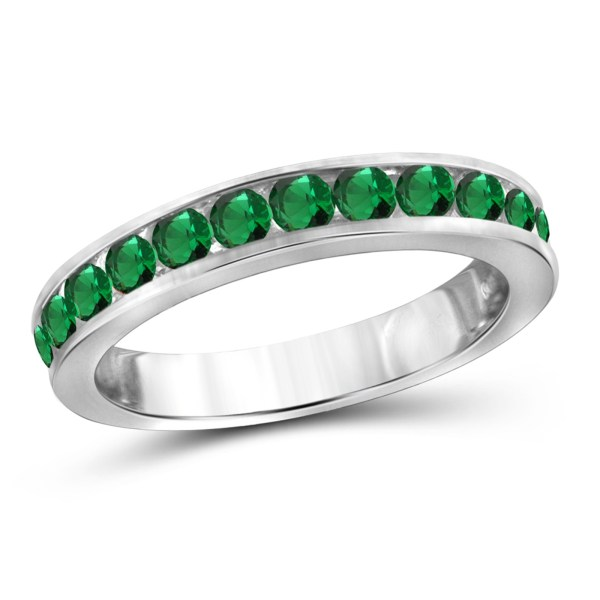 Rings   Diamond Rings   Kmart Created Emerald Stackable Ring   Size 8 Only