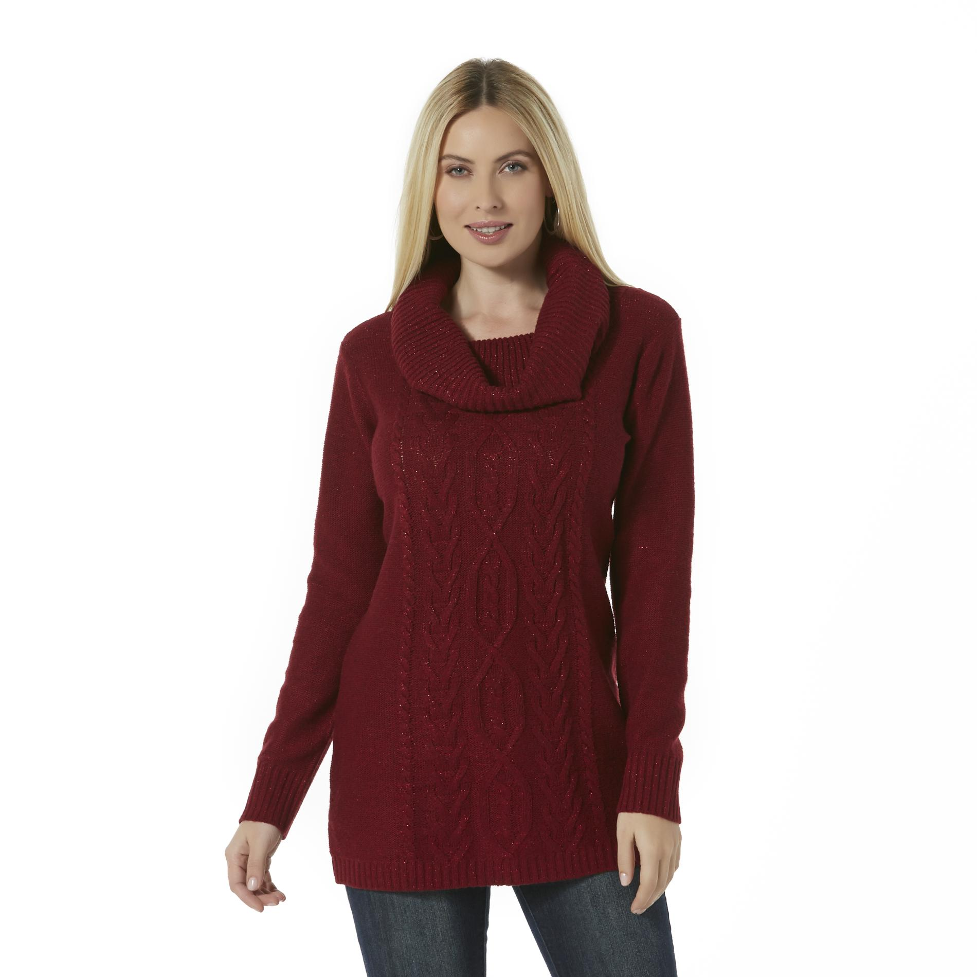 Canyon River Blues Womens Cowl Neck Sweater Tunic
