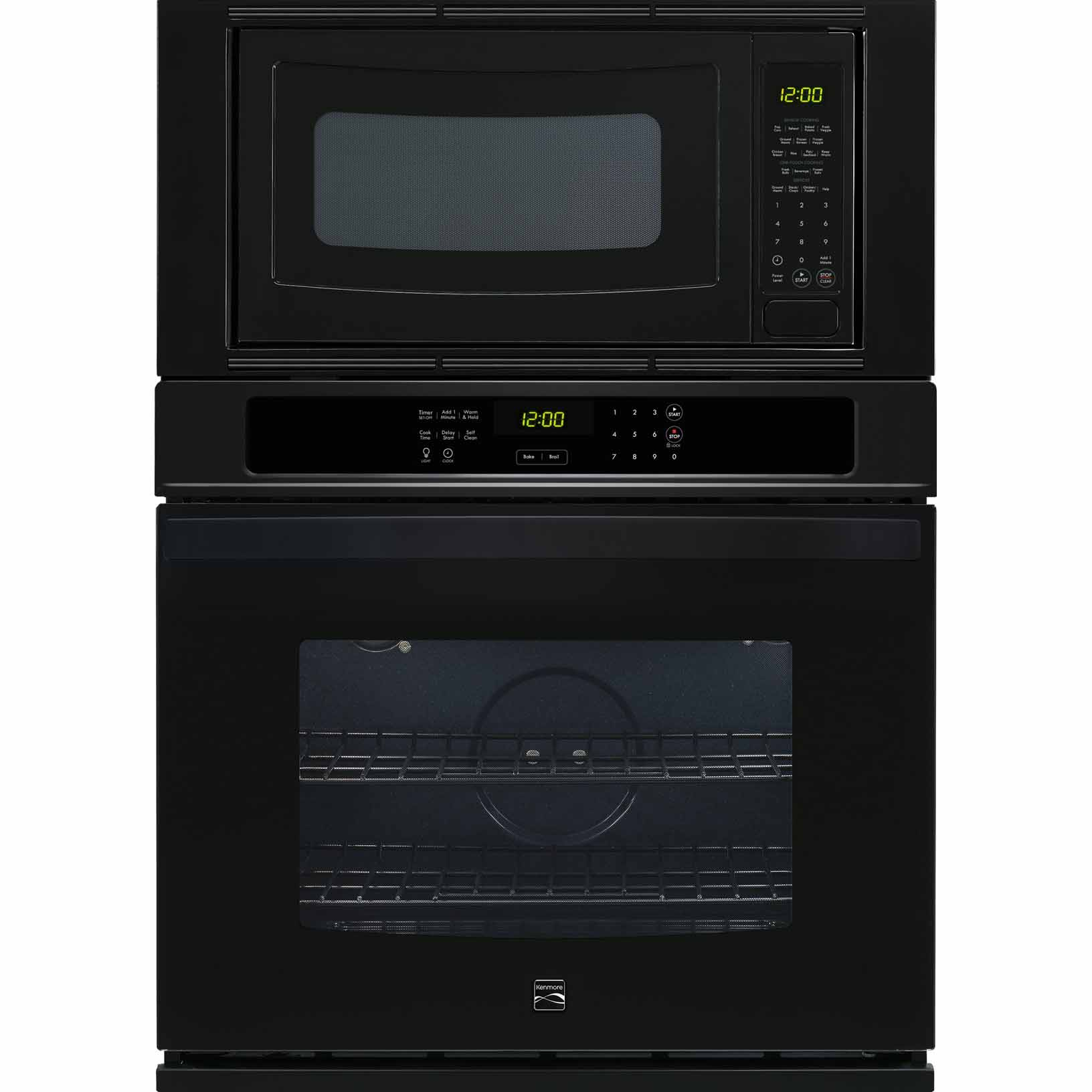 kenmore 49609 27 electric combination wall oven black
