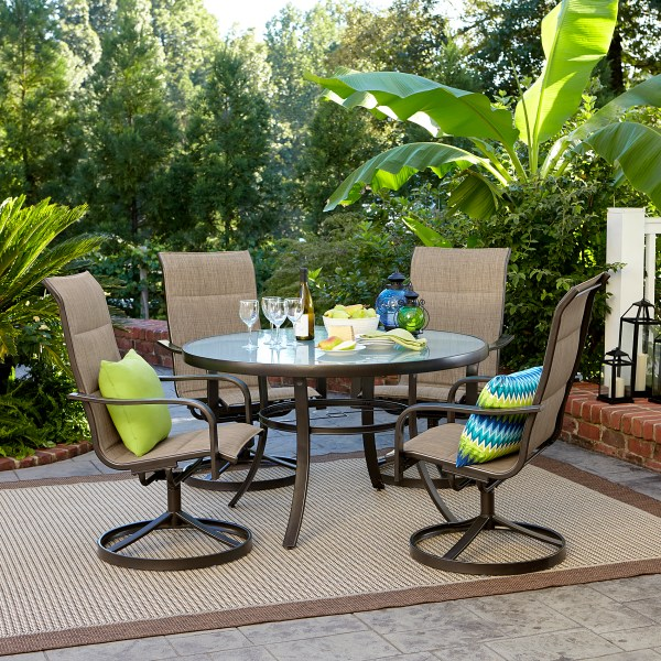 small outdoor patio furniture sets Garden Oasis Miranda 5 Piece Dining Set | Shop Your Way
