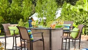 Garden Oasis Harrison 5 Pc Outdoor Bar Set