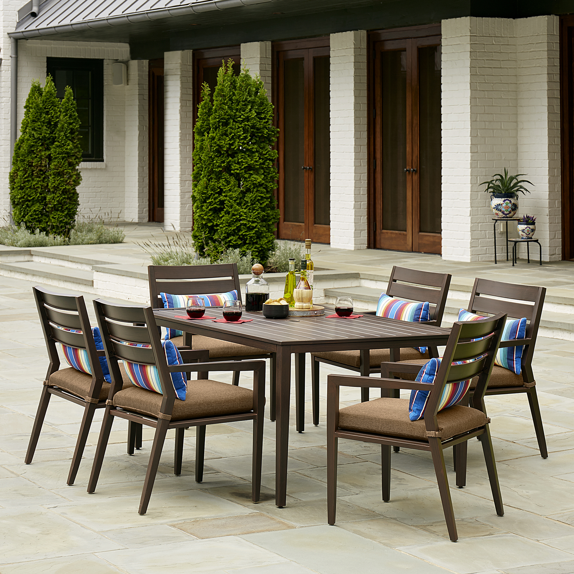 sears patio furniture dining sets Sutton Rowe Willsonville 7 Piece Dining Set *Limited