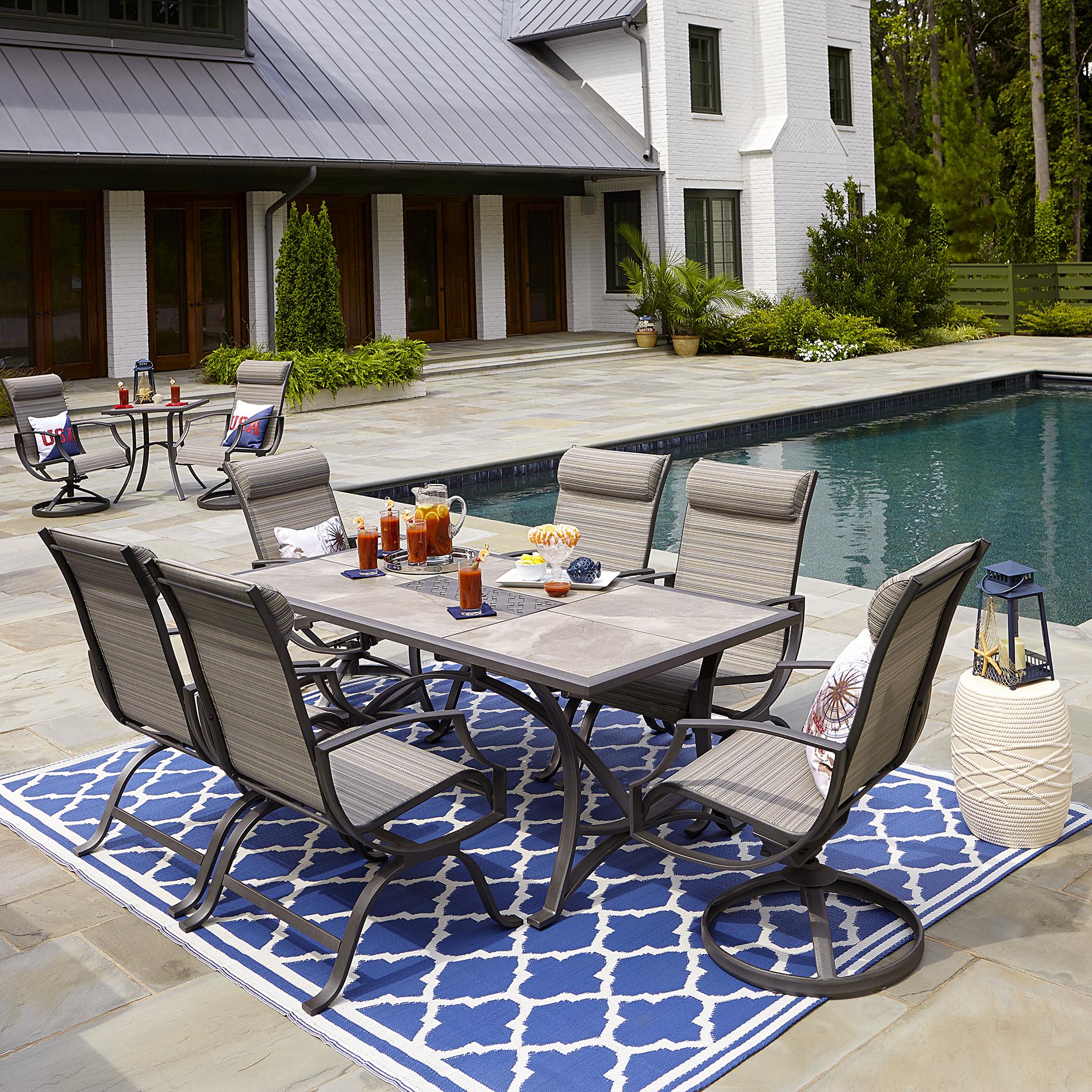 dining sets ceramic tile sears