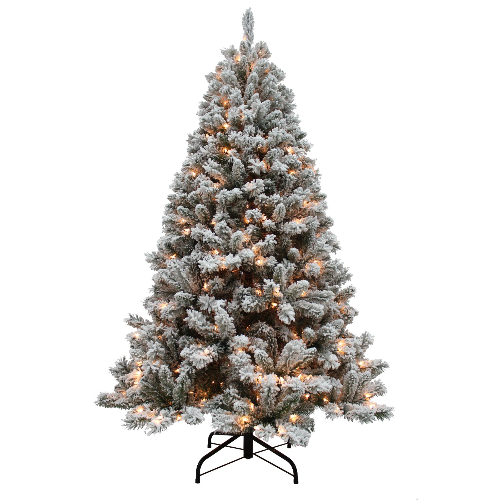 DampB 65 Pre Lit Alberta Spruce Christmas Tree Sears