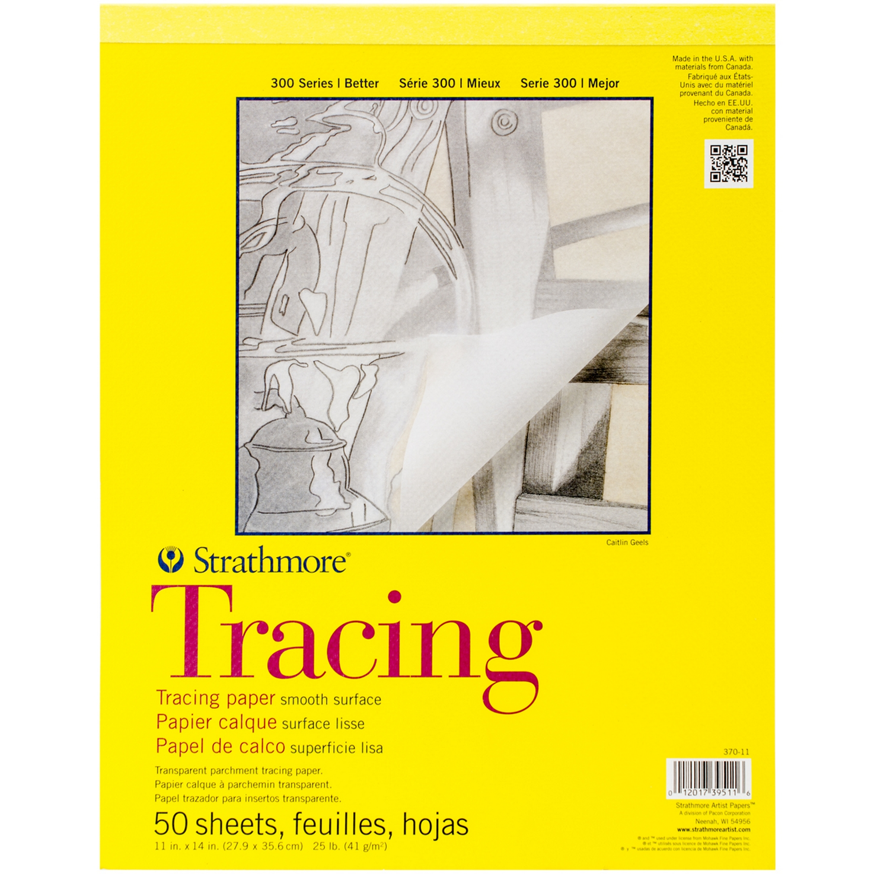 Strathmore Tracing Paper Pad 50 Sheets