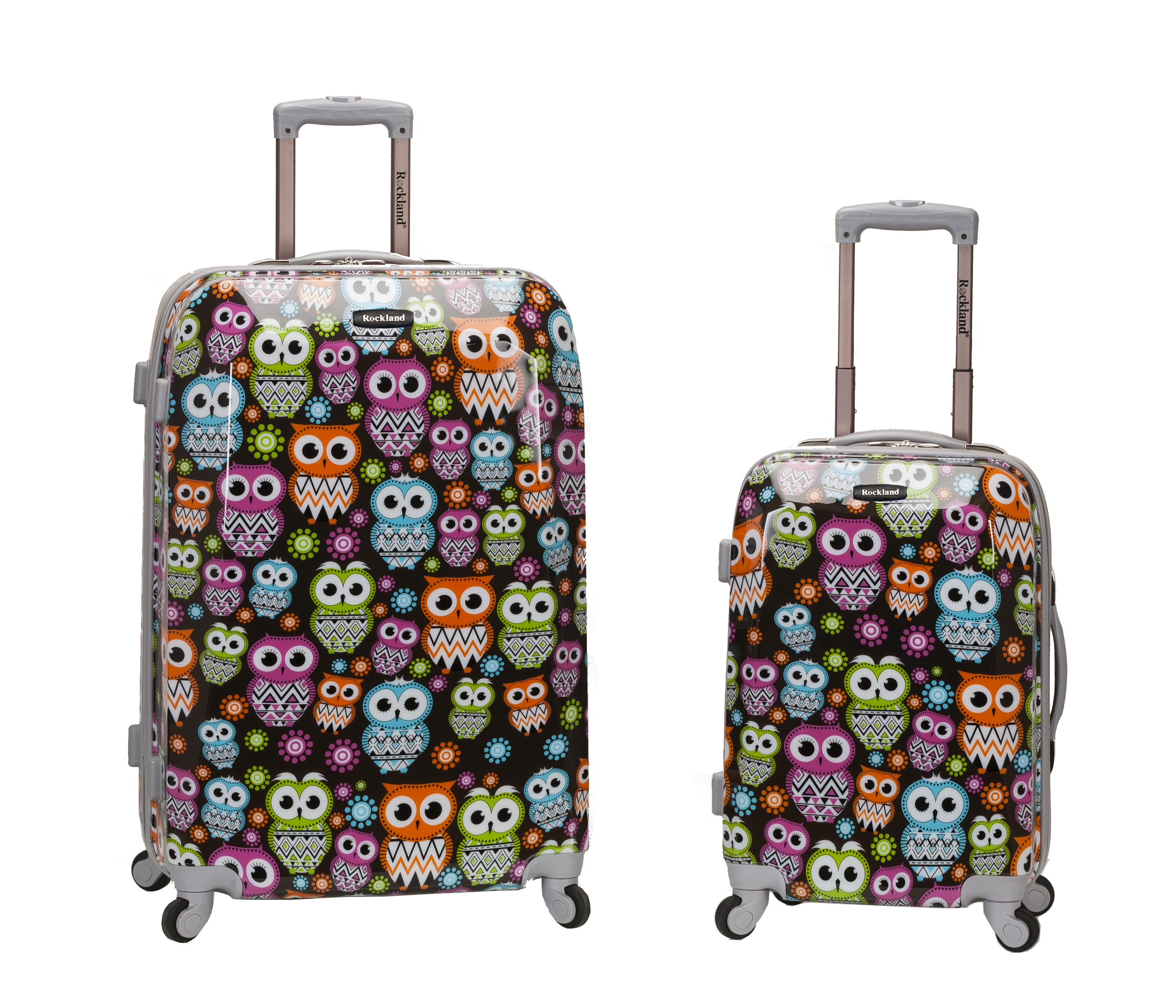 Rockland 2 Pc Hardside Upright Luggage Set Owl