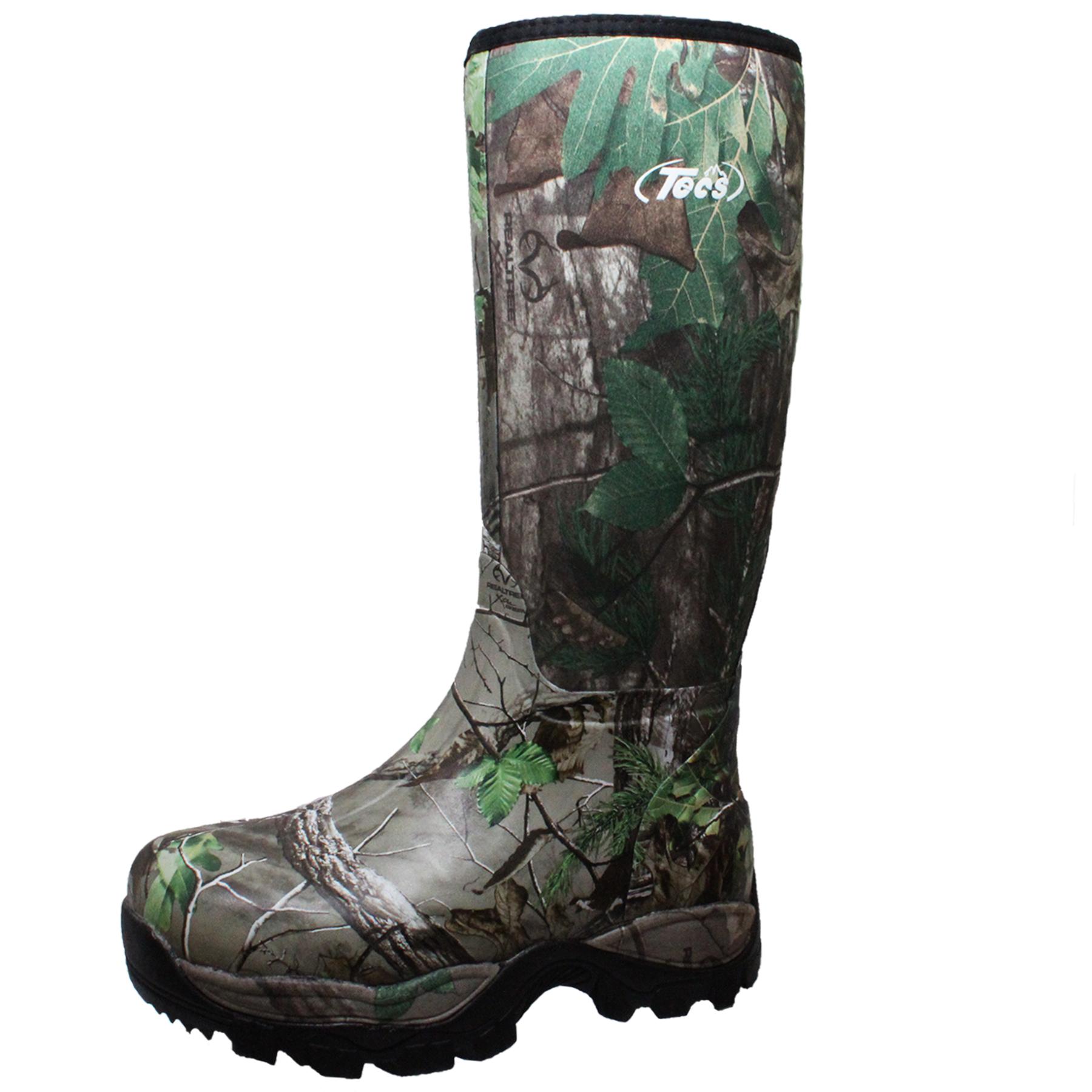 Tecs Mens 16 Waterproof Rubber Boot Camo