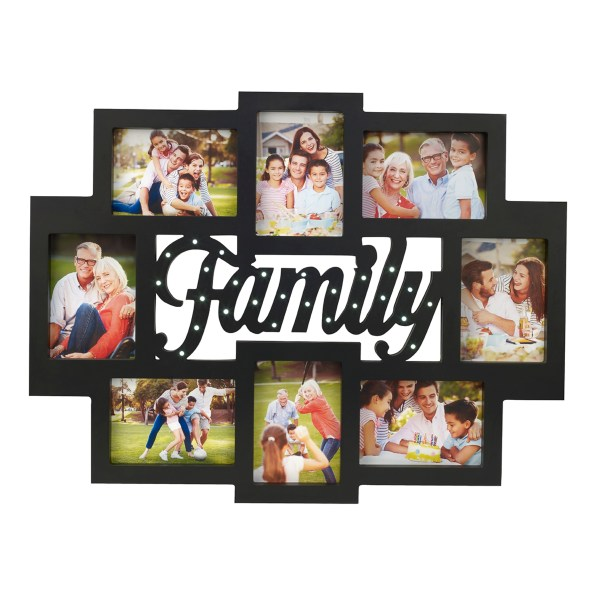Melancco 8-Opening Family Collage Picture Frame with LED ...