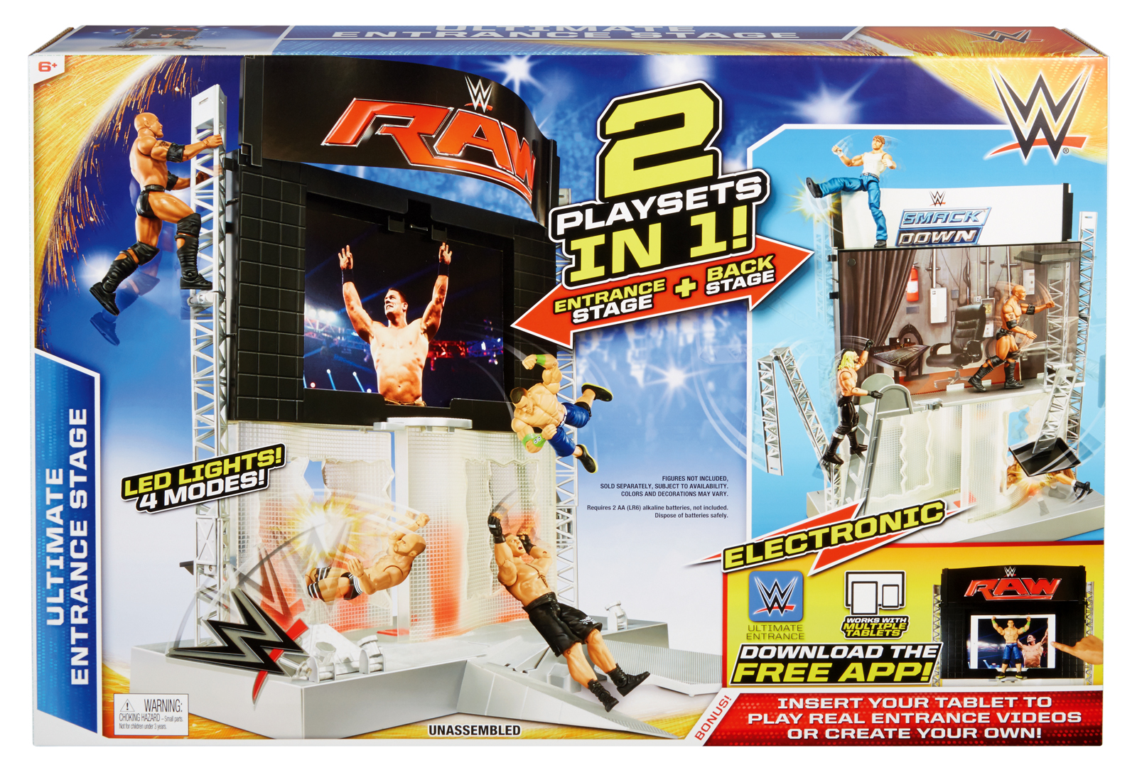 WWE Ultimate Entrance Stage Playset Toy Wrestling Action