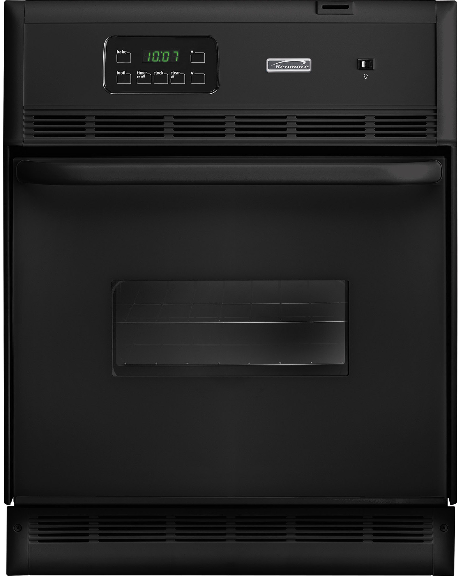 "Kenmore 45099 24"" Single Electric Wall Oven  Black"