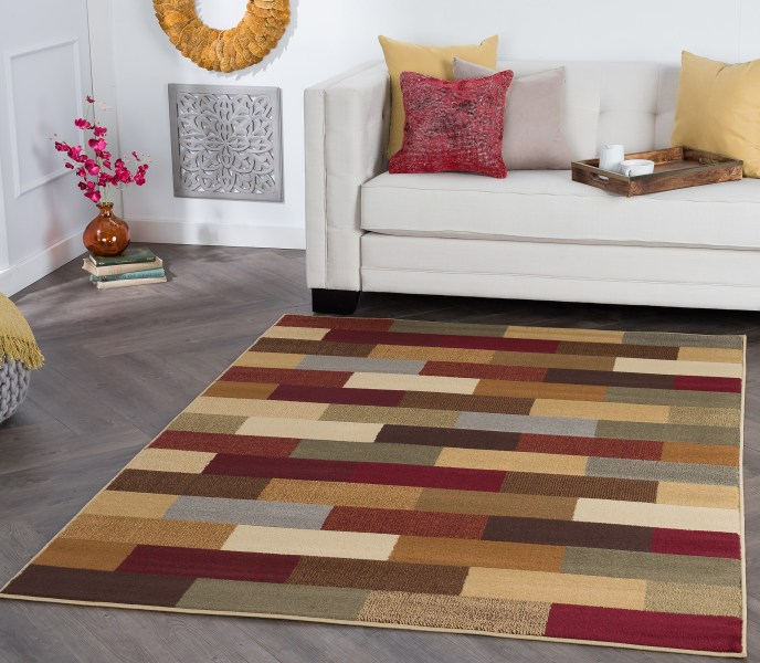 Area Rugs 5x7 Tayse Rugs Elegance Alex Abstract Area Rug   5  x 7  5 3