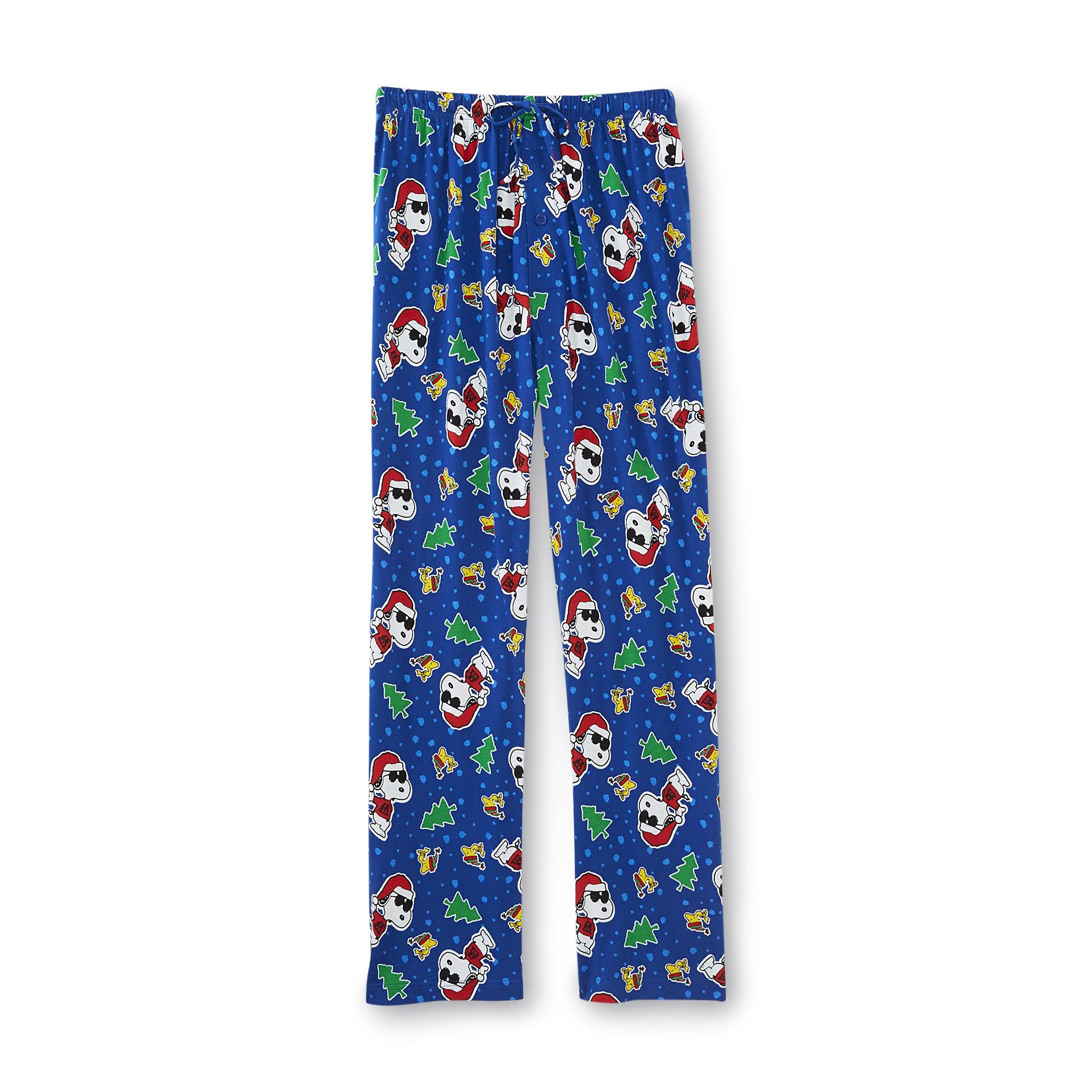 Peanuts By Schulz Mens Christmas Pajama Pants